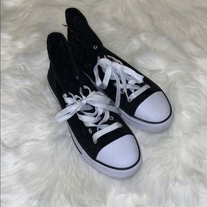 Shoes - Black and white high top shoes